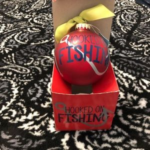 """NWT Coton Colors """"Hooked on Fishing"""" ornament"""